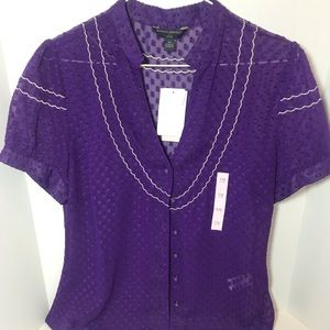 Banana Republic sheer blouse BNWT Petite Medium